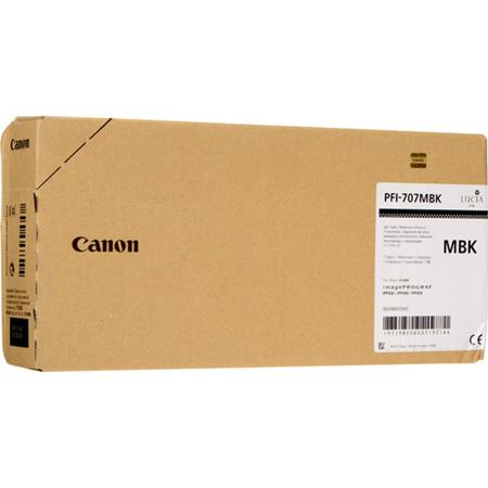 Canon PFI-707MBK Matte Black Original High Capacity Ink Cartridge (700ml)