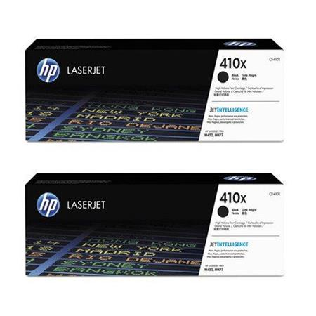 HP 410X (CF410XD) Black Original High Capacity Toner Cartridge Twin Pack