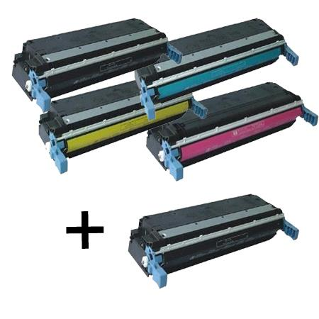 C9720A/23A Full Set + 1 EXTRA Black Remanufactured Toner Cartridge