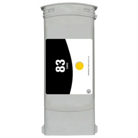 Compatible Yellow HP 83 High Yield Pigment Ink Cartridge (Replaces HP C4943A) (680ml)