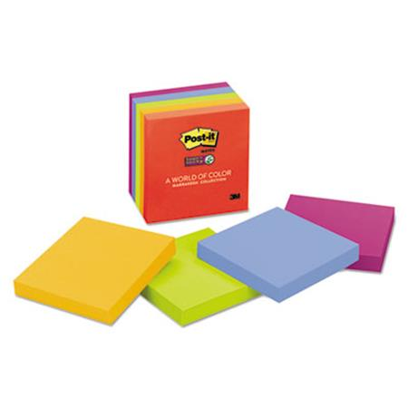 Post-it Notes Super Sticky Super Sticky Notes  3 x 3   Asstd Neon/Electric  5 90-Sheet Pads/Pack