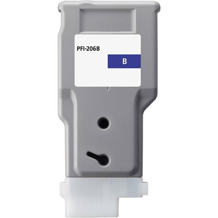 Compatible Blue Canon PFI-206B Ink Cartridge (Replaces Canon 5311B001AA)