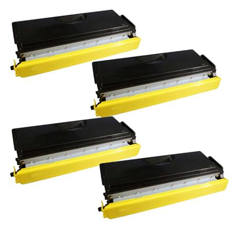 Compatible Quad Pack Brother TN570 Black Toner Cartridges