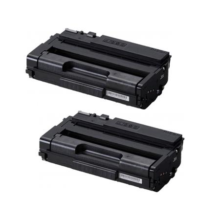 Ricoh 408288 Black Original Toner Cartridges Twin Pack