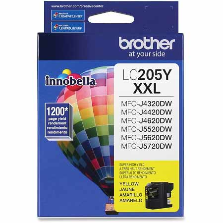Brother LC205Y Original Yellow Extra High Capacity Ink Cartridge