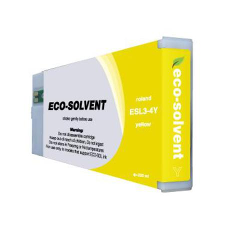 Compatible Yellow Roland ESL4-4YE-ST Eco-Sol Max Standard Yield Ink Cartridge