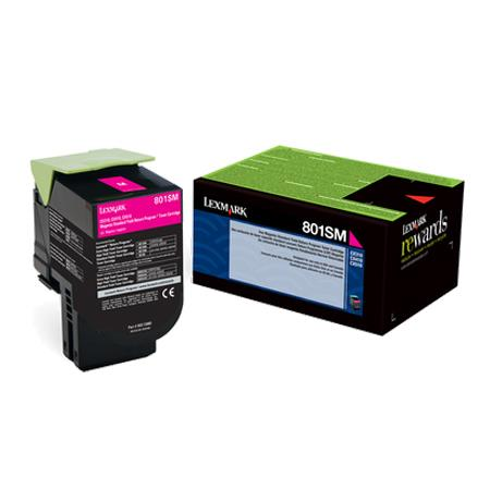 Lexmark 80C1SM0 Magenta Original Standard Capacity Return Program Toner Cartridge