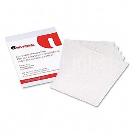 Clear Laminating Pouches 3 mil 9 x 11-1/2 25/Pack