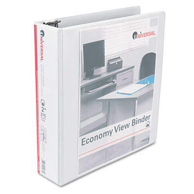 Round Ring Economy Vinyl View Binder 2Inch Capacity White