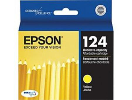 Epson 124 Yellow Original Moderate Capacity Ink Cartridge