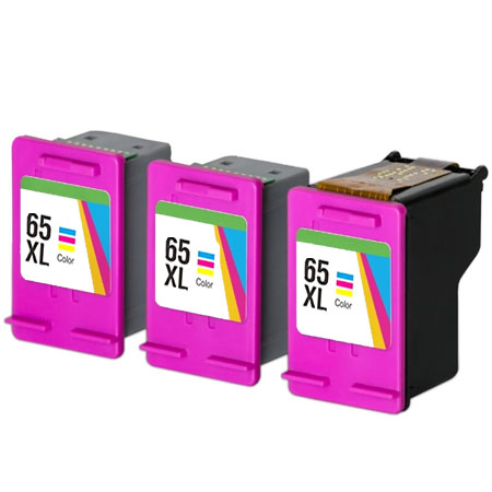 Compatible Color HP 65XL High Yield Ink Multipack (Replaces 3 x N9K03AN + 1 x Printhead)