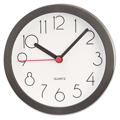 Cubicle Clock 6in Black