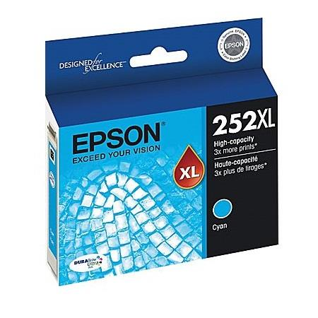Epson T252XL Cyan Original High Yield Ink Cartridge (T252XL220)