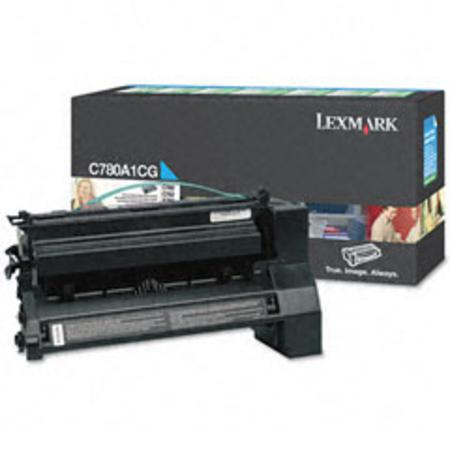 Lexmark C780A1CG Cyan Original Return Program Laser Toner Cartridge