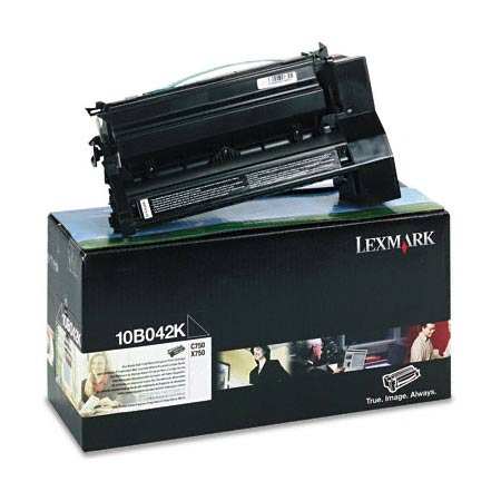 Lexmark 10B042K Original Black Prebate High Yield Laser Toner Cartridge