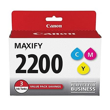 Canon PGI-2200 (9304B005) 3 Colour Original Standard Capacity Ink Cartridge Multipack