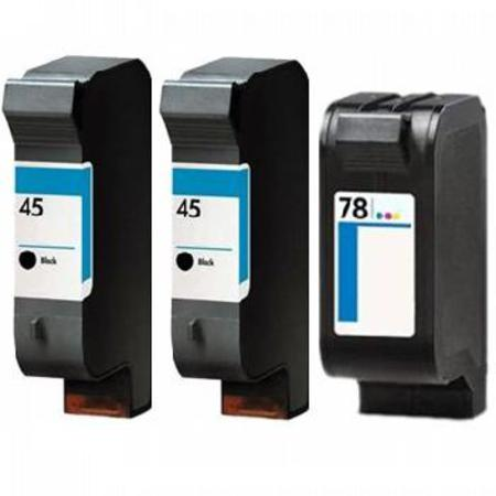 45/78 Full Set + 1 EXTRA Black Remanufactured Inks
