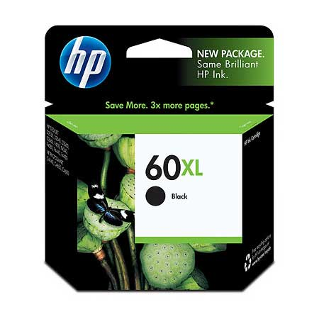 HP 60XL Black Original High Capacity Ink Cartridge (CC641WN)