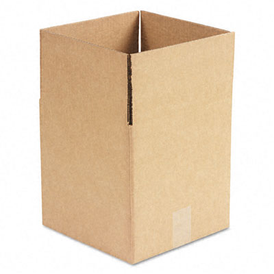 Corrugated Kraft Fixed-Depth Shipping Carton 10w x 10l x 10h Brown 25/Bundle