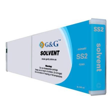 Mimaki SS2 Compatible Eco-Solvent Cyan Inkjet Cartridge
