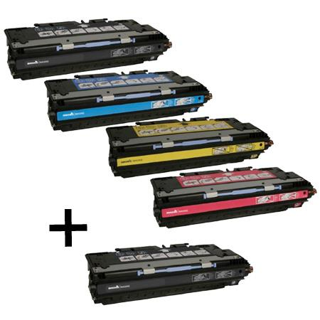 Q2670A/73A Full Set + 1 EXTRA Black Remanufactured Toner Cartridge