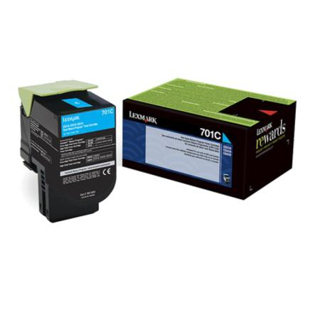 Lexmark 701C Original Cyan Standard Capacity Return Program Toner Cartridge
