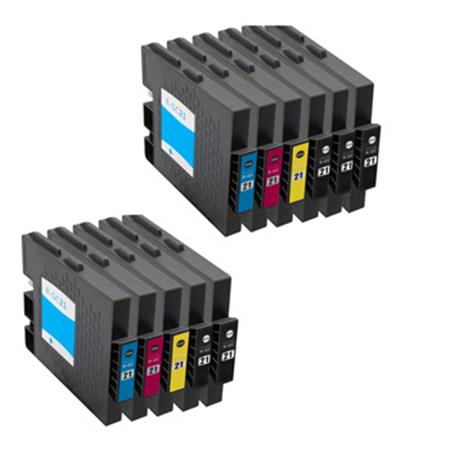 Compatible Multipack Ricoh 405532/35 2 Full Sets + 3 EXTRA Black Inkjet Cartridges