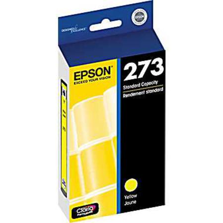 Epson 273 (T273420) Yellow Original Claria Premium Standard Capacity Ink Cartridge
