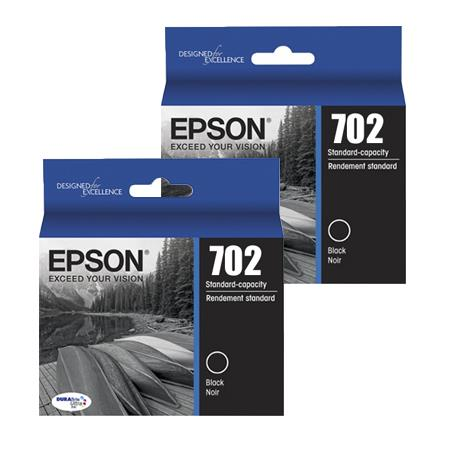 Epson 702 (T702120-D2) Black Original Standard Capacity Ink Cartridge - Twinpack