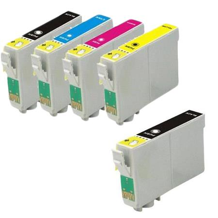 Compatible Multipack Epson 212XL Full Set + 1 Extra Black Ink Cartridges (Replaces Epson T212XL-BCS)