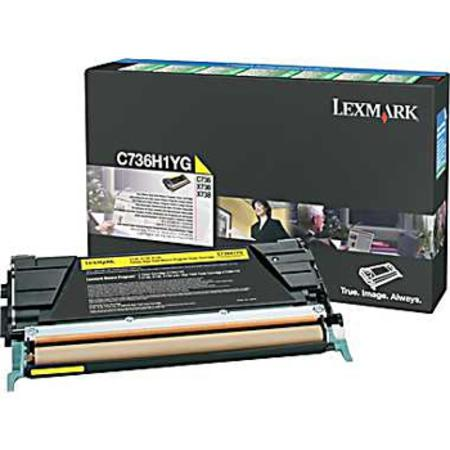 Lexmark C736H1YG Yellow Original High Yield Return Program Toner Cartridge