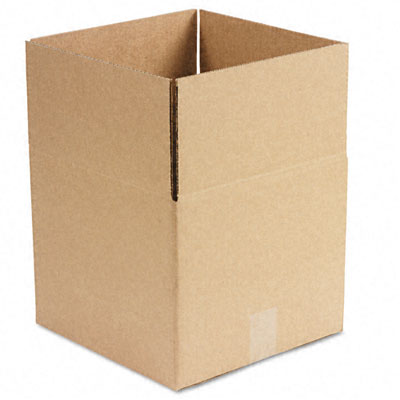 Corrugated Kraft Fixed-Depth Shipping Carton 12w x 12l x 10h Brown 25/Bundle
