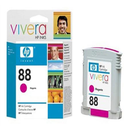 HP 88 Magenta Original Ink Cartridge with Vivera Ink (C9387AN)