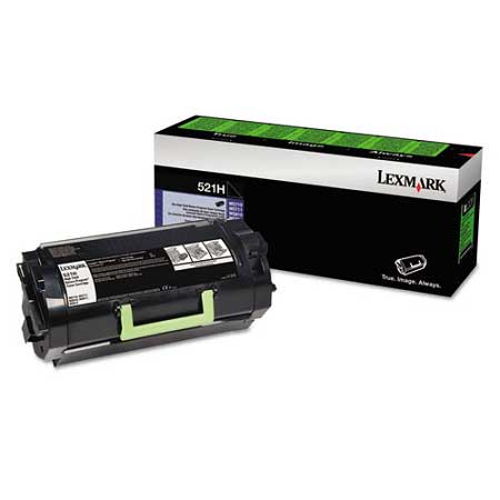 Lexmark 521H Black Original High Capacity Toner Cartridge (52D1H00)