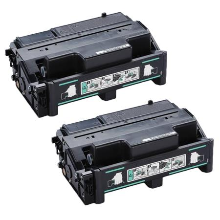 406628 Black Remanufactured Toner Cartridge Twin Pack