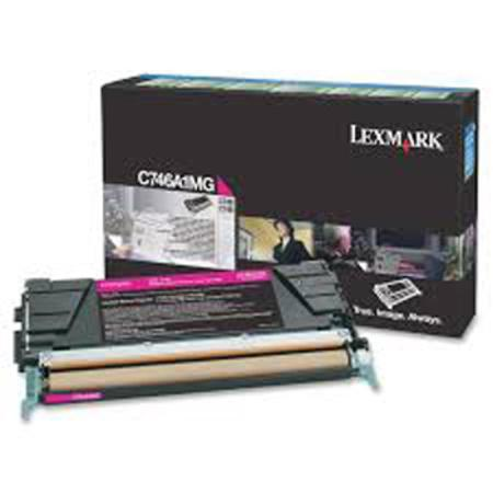 Lexmark C746A1MG Magenta Original Return Program Toner Cartridge