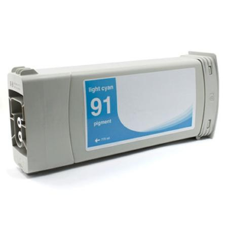 Compatible Light Cyan HP 91 Pigment Ink Cartridge (Replaces HP C9470A) (775ml)