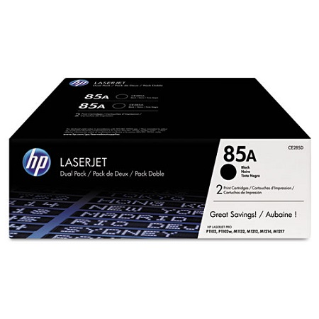 HP 85A Black Original Toner Cartridges (Twin Pack)