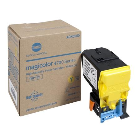 Konica Minolta TNP-18 Yellow Original Toner Cartridge (A0X5230)