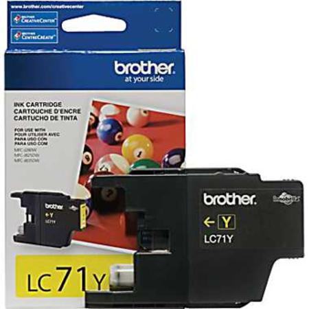Brother LC71Y Yellow Original Standard Yield Ink Cartridge