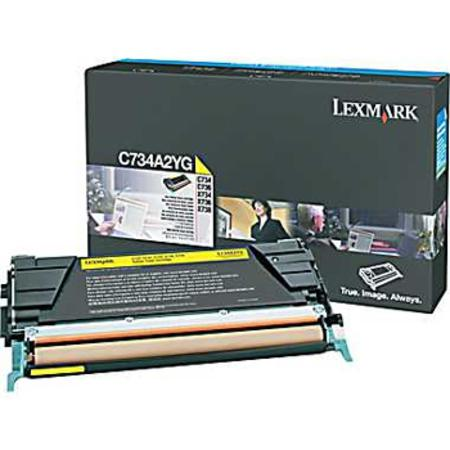 Lexmark C734A2YG Yellow Original Toner Cartridge