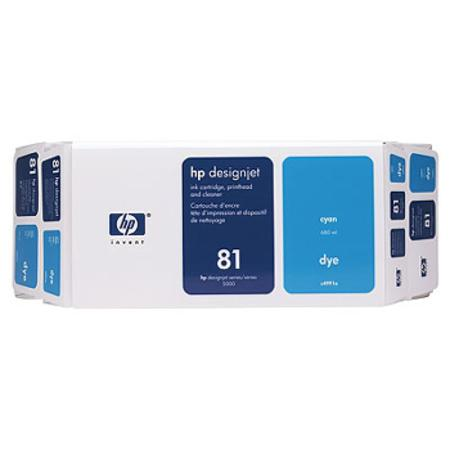 HP 81 Original Cyan Dye Value Pack (C4991A)