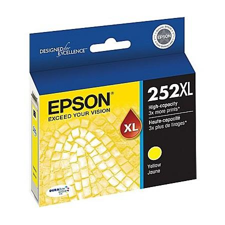 Epson T252XL Yellow Original High Yield Ink Cartridge (T252XL420)