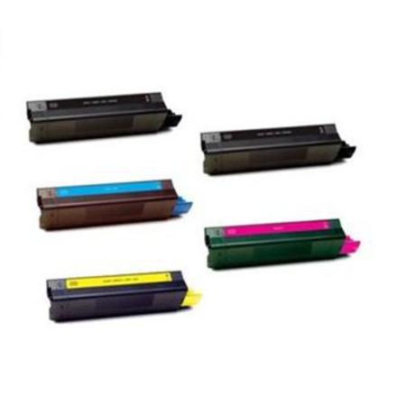 43034801/02/03/04 Full Set + 1 EXTRA Black Remanufactured Toner Cartridge