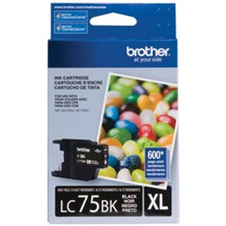 Brother LC75 (LC75BK) Black Original High Yield Ink Cartridge