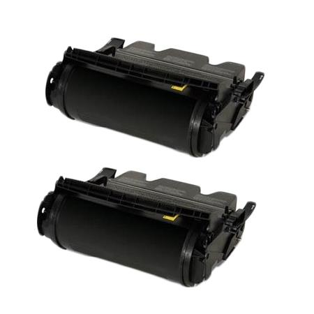 Compatible Twin Pack Black Lexmark 64015HA Toner Cartridges