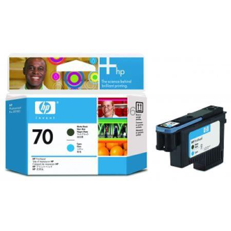 HP 70 Matte Black and Yellow Original Printhead (C9404A)