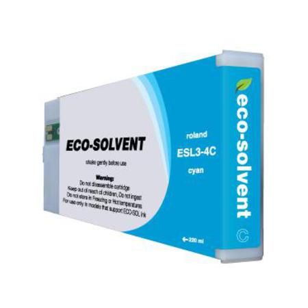 Roland ESL4-4CY Cyan Compatible Eco-Sol MAX 2 Standard Capacity Ink Cartridge