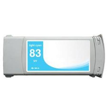 Compatible Cyan HP 83 High Yield Pigment Ink Cartridge (Replaces HP C4941A) (680ml)