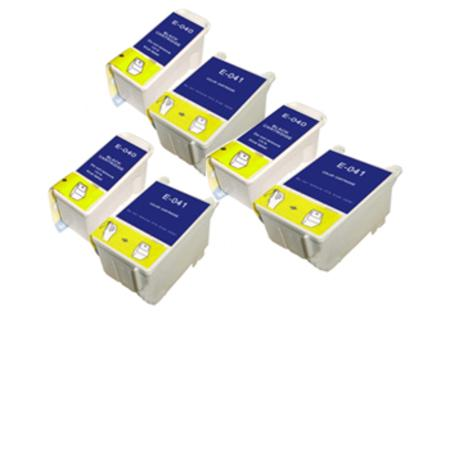 Compatible Multipack Epson T040/T041 3 Full Sets Ink Cartridges